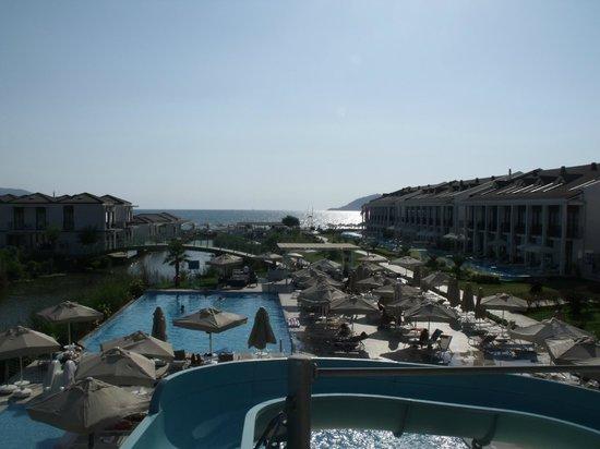 Jiva Beach Resort : Widok ze zjeżdżalni