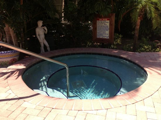 Villa Venice Men's Resort: Jacuzzi on the Worthington side