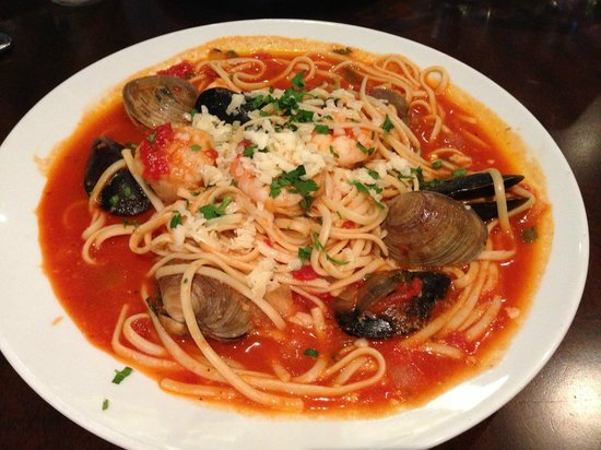 Opa! Authentic Greek Cuisine: Seafood spaghetti