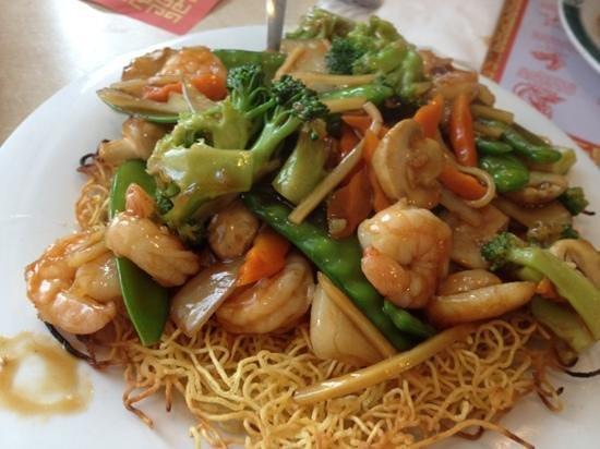 Shrimp And Fried Noodles Picture Of Jade Dragon Fargo Tripadvisor