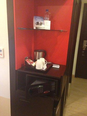 Ramada Encore Doha : complimentary tea coffee a digital safe and a fridge