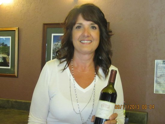 Nelson Family Vineyards: Sherrilynn Goates, our host that greeted us very warmly