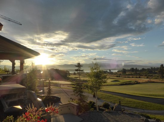 Tamarack Resort: From the Lodge back patio overlooking the golf course