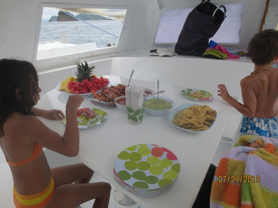 The Seabird Sailing Catamaran Tours: lunch