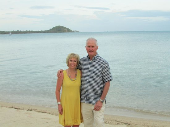 Centra by Centara Coconut Beach Resort Samui: A view of the sea behind us