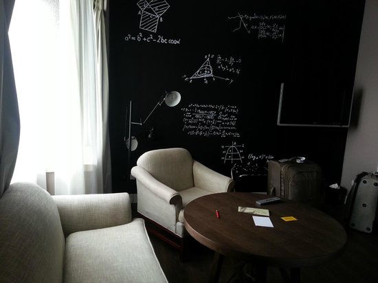 "Just Sleep @ NTU : Very cool ""blackboard"" wall!!!"