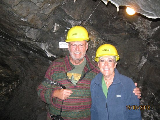 Crystal Gold Mine: in the mine.