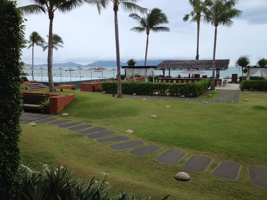 Hansar Samui Resort: view from our ground floor room