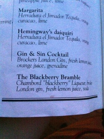Sample of cocktail menu - Picture of The Speakeasy Rooftop ...
