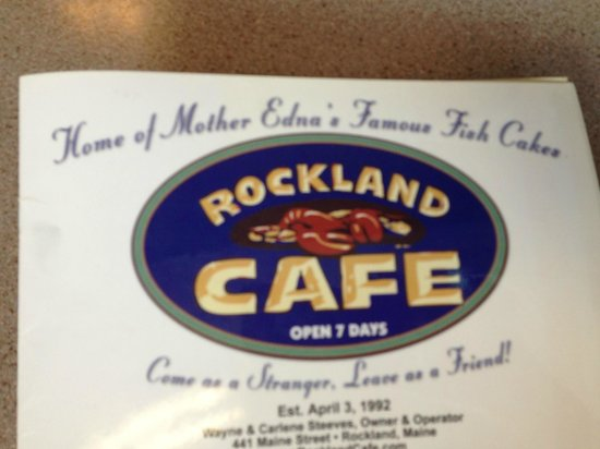 Rockland Cafe & Bakery: good place to eat
