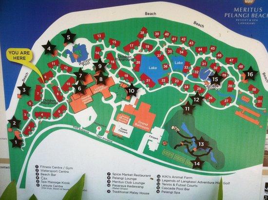 เมอริทัส เปอลังงี บีช รีสอร์ท แอนด์ สปา ลังกาวี: Map