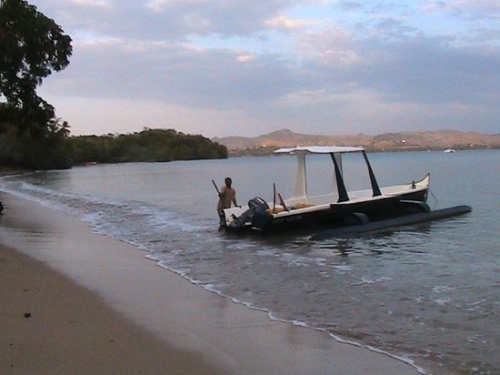 One of the water taxis at Sakatia Lodge