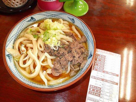 Kurechiudon: 肉うどん大盛600円