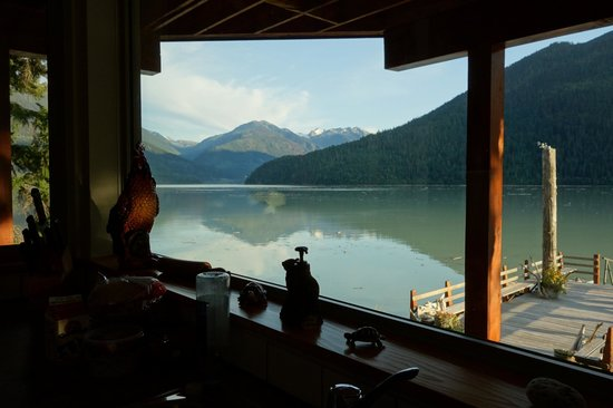 The Cottage B&B on Lillooet Lake : View from guest kitchen
