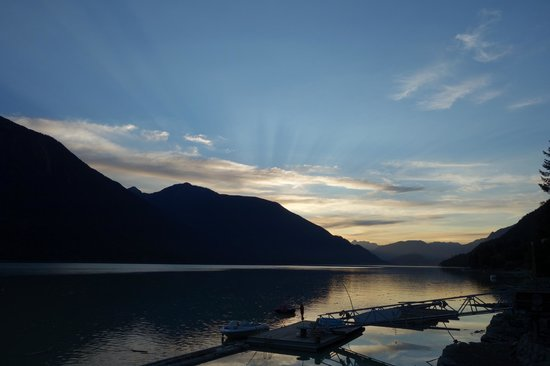 The Cottage B&B on Lillooet Lake: View from the deck