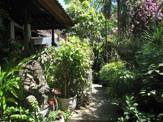 Geria Giri Shanti Bungalows : The path to the breakfast area