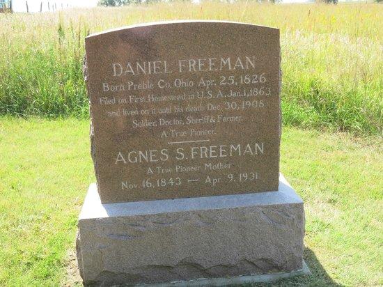 Homestead National Monument of America: Det var her at Daniel Freeman fik USA´s første Homestead.
