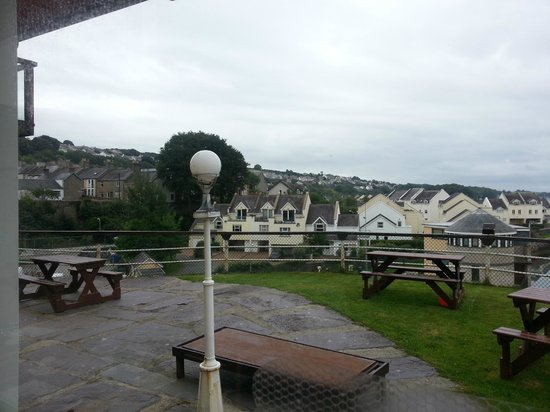 Hotel Port Dinorwic: View from restaurant