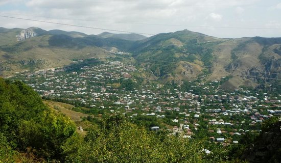 Yeghevnut Hotel: Shot of north end of Goris where Yeghevnut is located