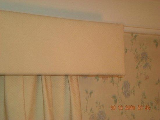 Hotel Palacio de Valderrabanos: polvo acumulado en la cortina