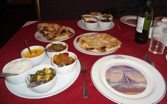 Plaza Tandoori: Main Course Meals