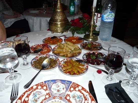 Riad Kniza: starter for dinner