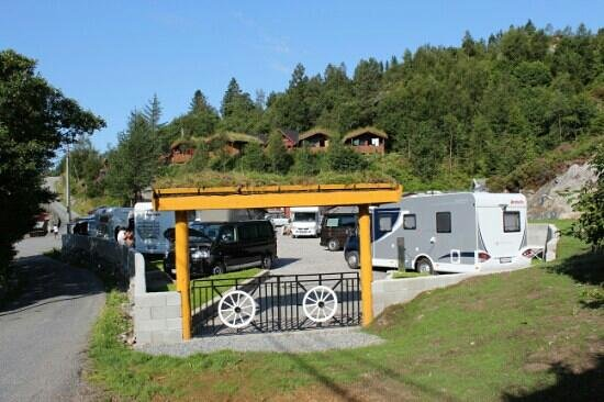 Bobilplass på Bratland Camping