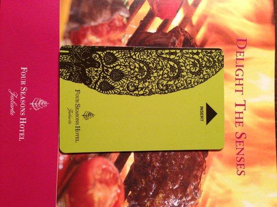 Four Seasons Hotel Jakarta: Card Key