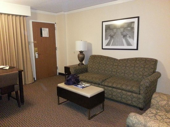 Embassy Suites by Hilton Tysons Corner : Sofabed in livingroom