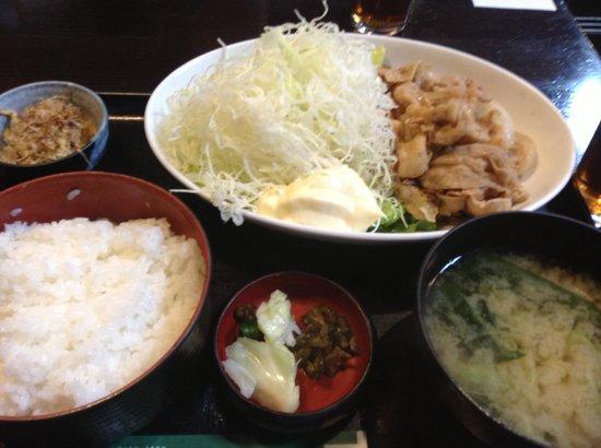 Tsukijiichibaichiba Nochubo: 生姜焼き定食
