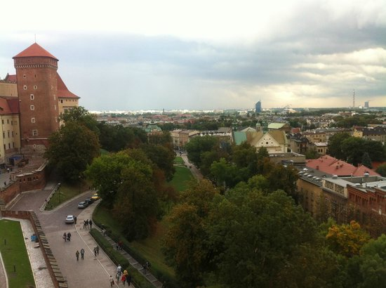 Wawel Royal Castle: View from the tower in the Wawel Castle