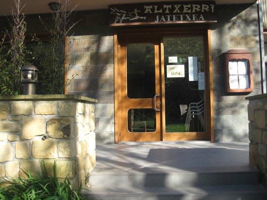 Restaurante Altxerri: ENTRADA