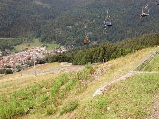 Hasenhorn Coaster Todtnau : Seilbahn von oben