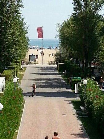 Camping Village Marina di Venezia: vista mare dal ponte del parco acquatico