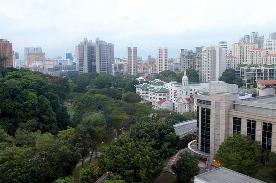 Fort Canning Lodge: view from our room