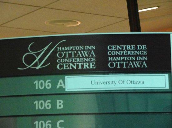 Hampton Inn by Hilton Ottawa: Sign in lobby