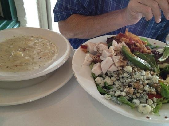 Black Mountain Bistro: meatloaf and Cobb's salad