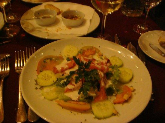 Miramar Hotel & SPA: excellente salade  au saumon fumé