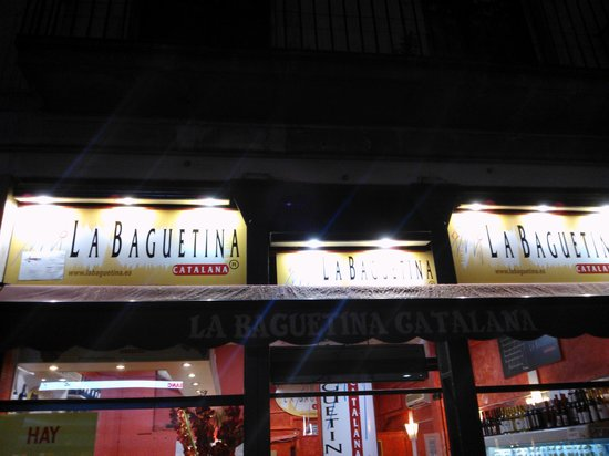 Restaurante la baguetina catalana en barcelona con cocina for Restaurante cocina catalana barcelona