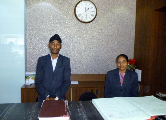 Hotel Grand Ambience: Receptionists Mr.Manjit Singh and his wife
