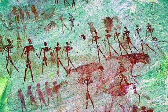 Ai-Aiba The Rock Painting Lodge: Rock-Paintings, Region Erongo ( bearbeitet mit Dstretch)