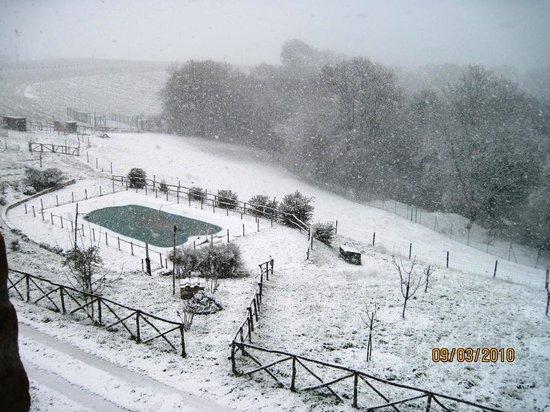Agriturismo le Ghiandaie: Giorno di neve