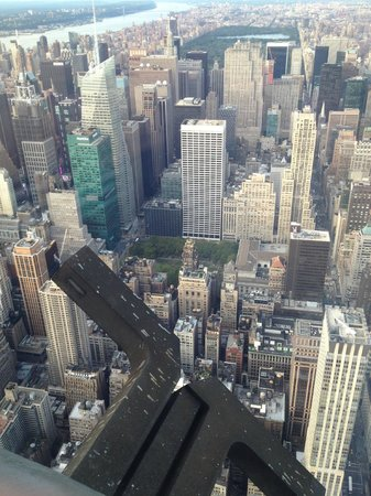 View through window on the 102nd floor picture of for 102nd floor of the empire state building