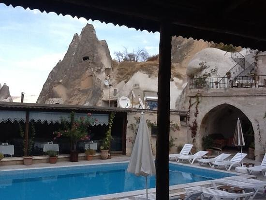 Local Cave House: from the divan overlooking the pool area