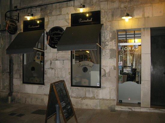 Le Poivretsel: The restaurant modern-looking front