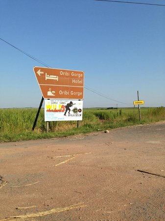 Oribi Gorge Hotel: almost there