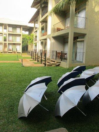 Fresco Water Villa: Umbrella for guests