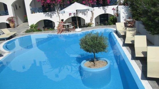 Veggera Hotel: Olive tree pool,view from pool terrace