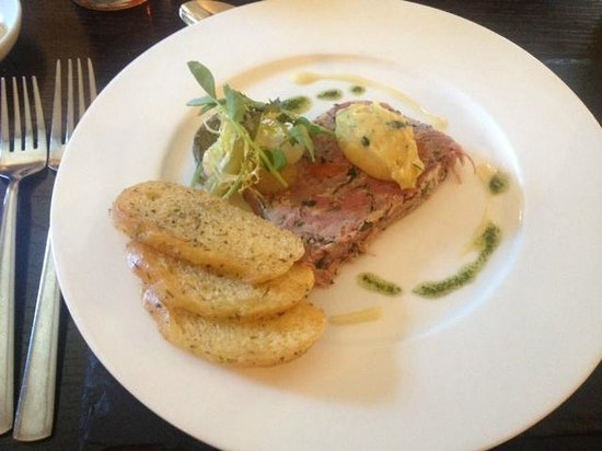 Barrasford Arms: Ham hock terrine with pease pudding
