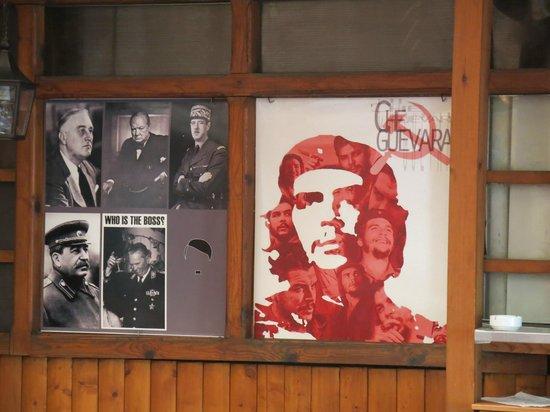 """Restaurant Kaj Marsalot: Interesting decor showing various """"leaders"""" over the years"""